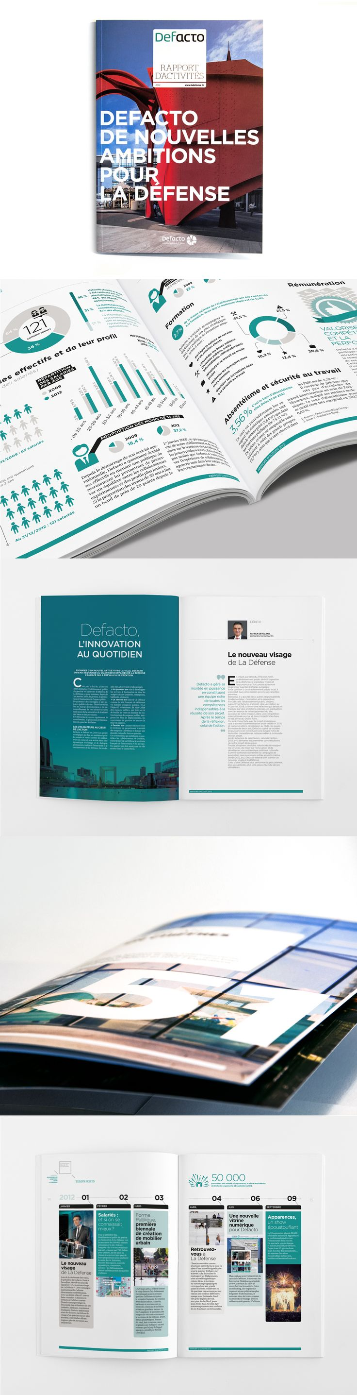 Rapport d'activité Defacto 2012 - Defacto, l'innovation au quotidien / Agence Citizen Press (Paris)