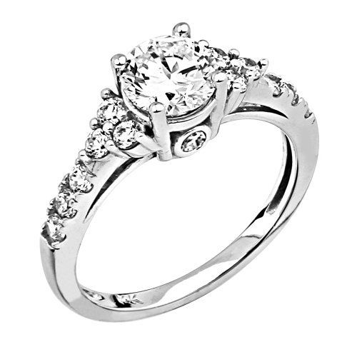 .925 Rhodium Plated Sterling Silver 1.5 CT Center Round-cut Solitaire with Side Stone CZ Cubic Zirconia Ladies Wedding Engagement Ring Band - Size 9 The World Jewelry Center, http://www.amazon.com/dp/B009PCDQA0/ref=cm_sw_r_pi_dp_6vO4qb1PNPTTG