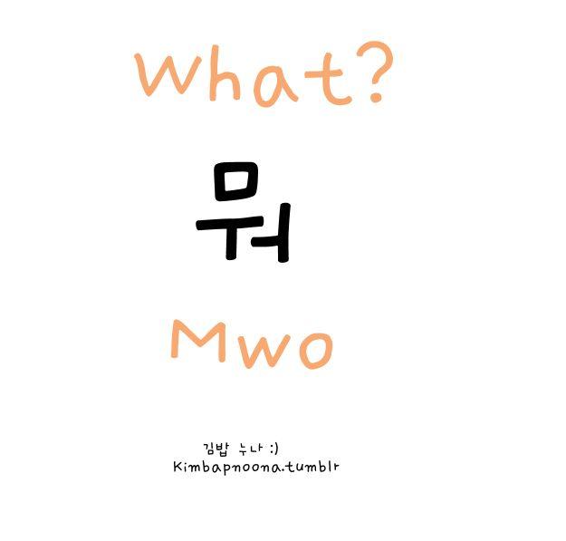 What? Korean words