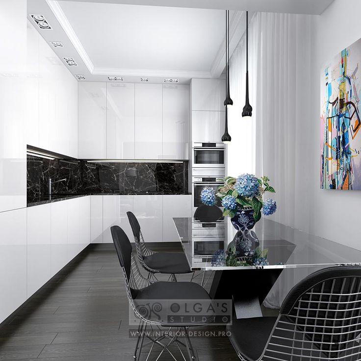 Kitchen design in Vilnus  http://interior-design.pro/en/blog/small-kitchen-design-ideas-and-pictures.php