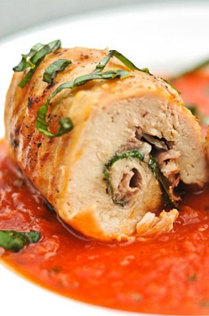 Chicken Involtini With Prosciutto And Basil Recipe — Dishmaps
