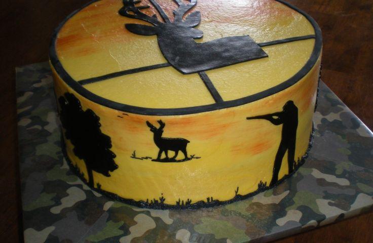 Hunting And Fishing Birthday Cake
