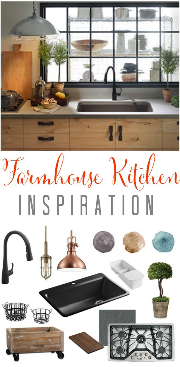 Gorgeous farmhouse kitchen inspiration. Lots of rustic touches to pull your look together!