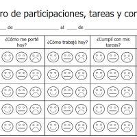 Registro Semanal de Participaciones, Tareas y Conducta - PDF