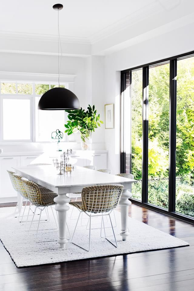 Dining room from a timeless California bungalow in Melbourne. Photo: Martina Gemmola | Styling: Sally Richardson & Fiona RIchardson | Story: Australian House & Garden