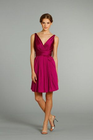 pink, fuschia, dress, bridesmaid, Jim Hjelm Occassions...very pretty