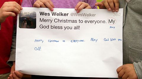2nd graders at Elmwood Franklin School in Buffalo, NY learn grammar by correcting tweets by NFL players..
