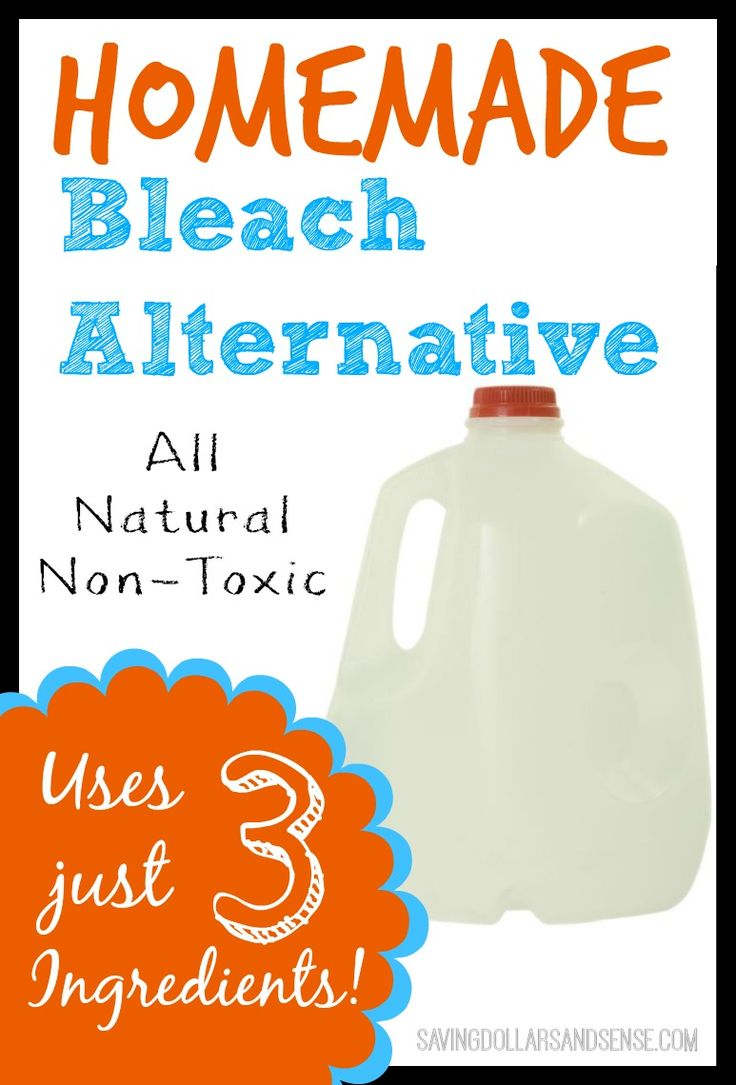 Simple All Natural Non-Toxic Bleach Alternative uses ONLY THREE Ingredients!!!