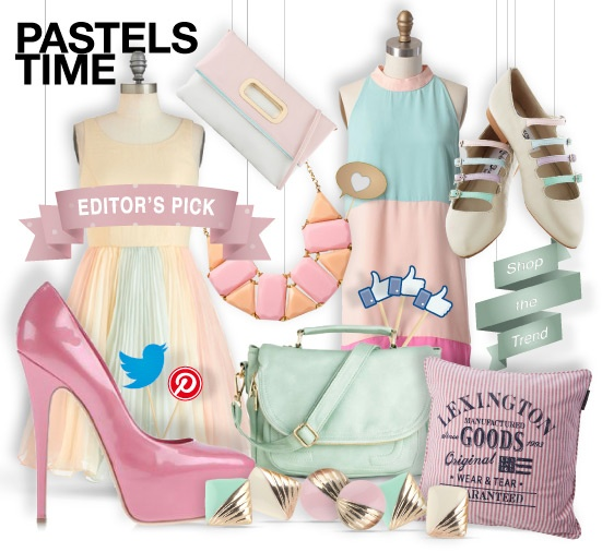 Pastels time - shopthemagazine.com #spring #pastel #color