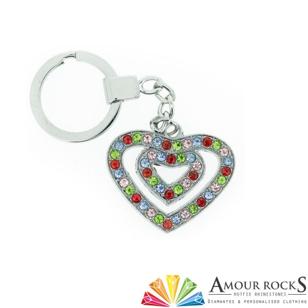 Double Love Heart Key Chain | Gift