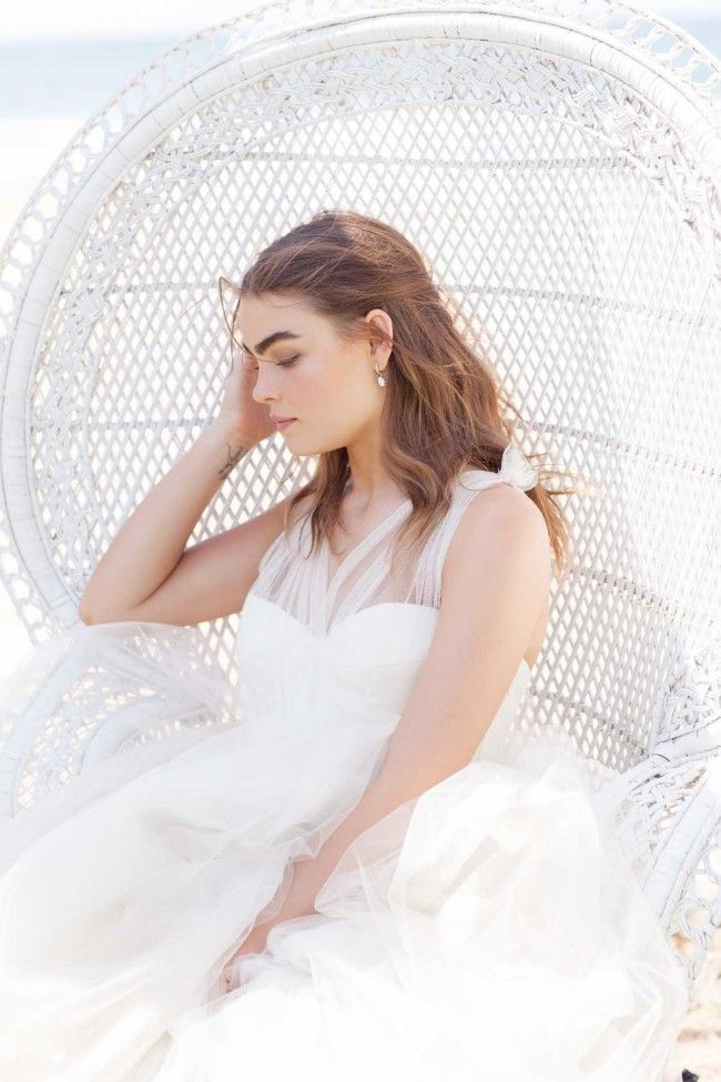 Love the peacock chair. Vogue Brides editorial with Bambi Northwood-Blyth and Dan Single.  Image: Nicole Cooper.