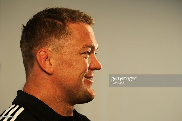 Greg Somerville of the New Zealand All Blacks speaks during a media conference from the team hotel on September 10, 2007 in Marseille, France.