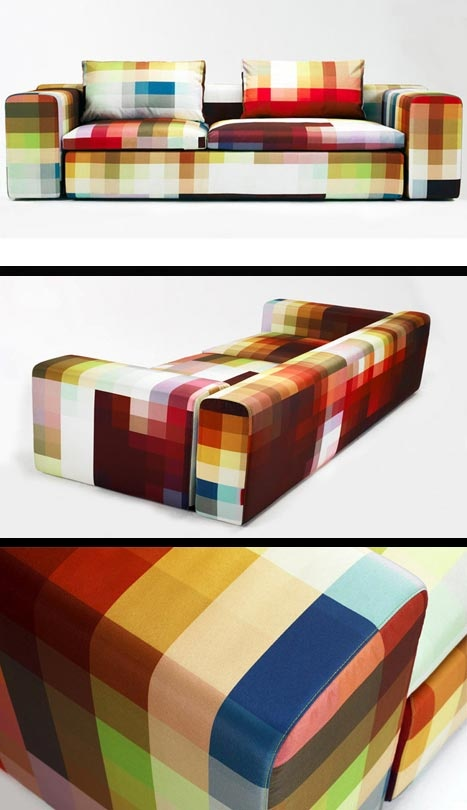 transformatie concept - pixel  Pinned by: Idea Concept Design.nl   PIxel couch by Christian Zuzunaga