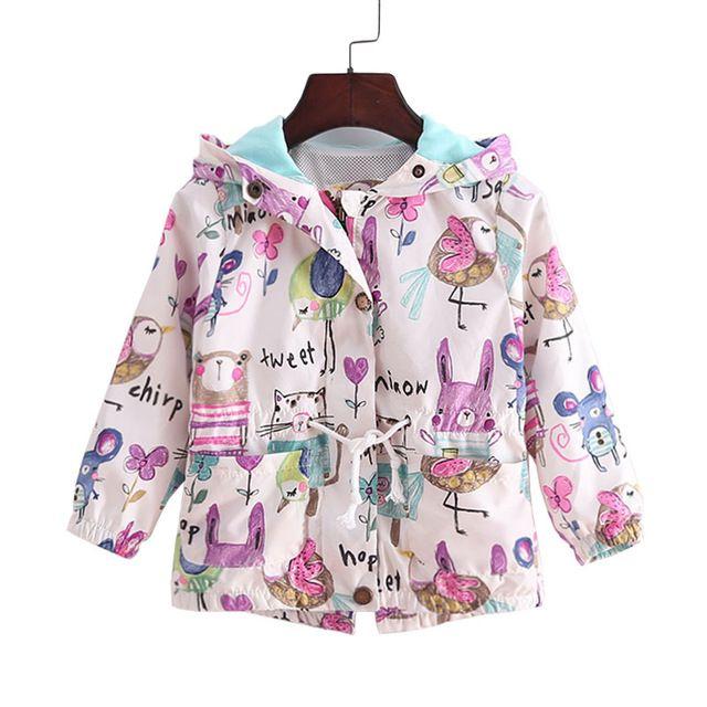 2016 новый 2 - 9 т весенние и летние девушки куртки свободного покроя с капюшоном верхняя одежда для девочек мода ручная роспись дети солнцезащитный крем одежда девочек