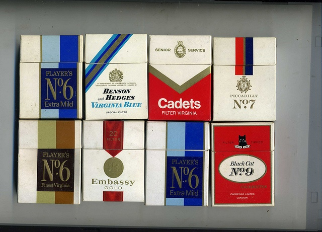 The VIrtual Tobacconist -  Flip-top UK Cigarette Packets - Brands, c 1970 by sludgegulper, via Flickr