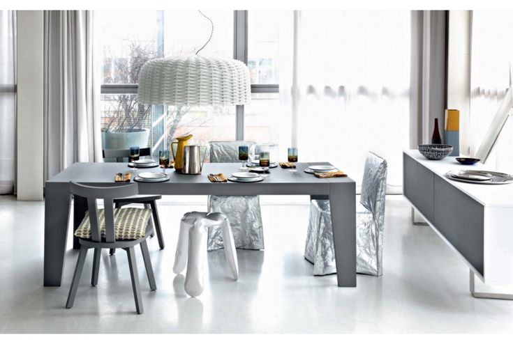 GRAY 23 and GHOST 23 Dining Chairs. To purchase these items contact RADform at +1 (416) 955-8282 or info@radform.com  #modernfurniture #contemporarydesign #interiordesign #modern #furnituredesign #radform #architecture #luxury #homedecor #modernloft #loft #diningroom #diningchairs #moderndiningroom
