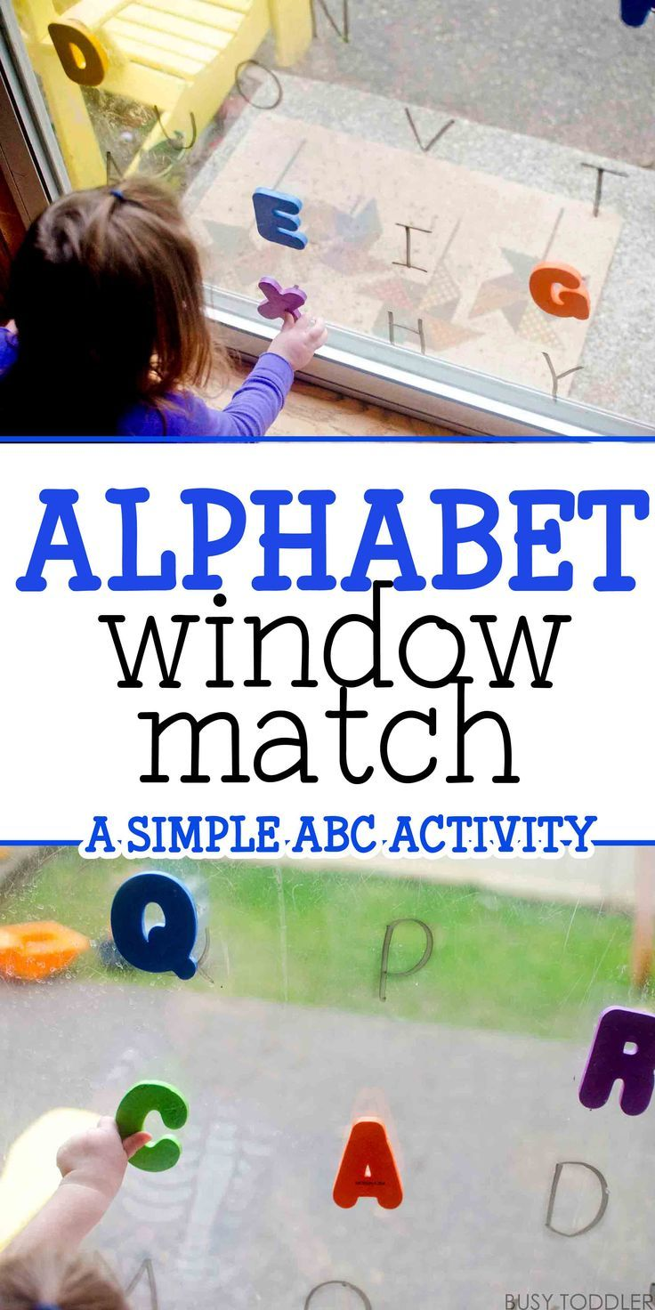 Alphabet Window Match - what a simple ABC activity! I love this quick and easy way to learn letters.