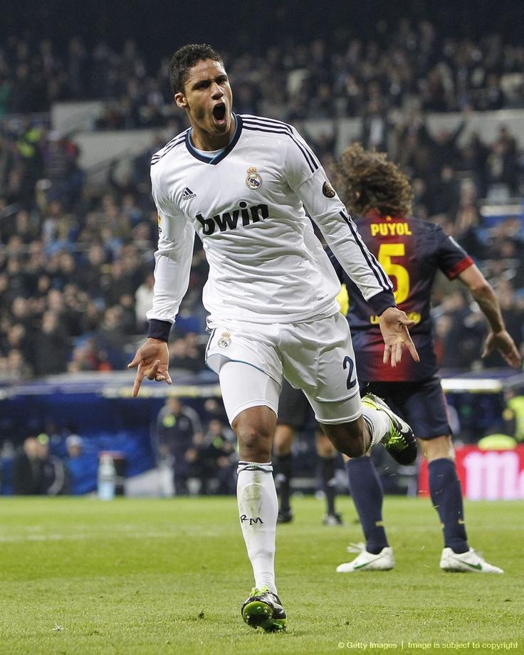 Raphäel Varane makes his Clasico debut and scores his first goal . Copa del Rey semi-final 1st leg - Real Madrid vs Barcelona 1:1, 30.01.2013 (Fabregas 50', Varane 80')