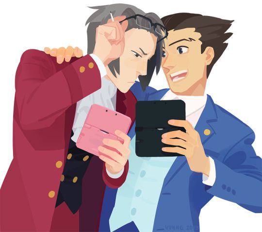 #edgeworth #phoenix #wright #miles #andmiles edgeworth and phoenix wright