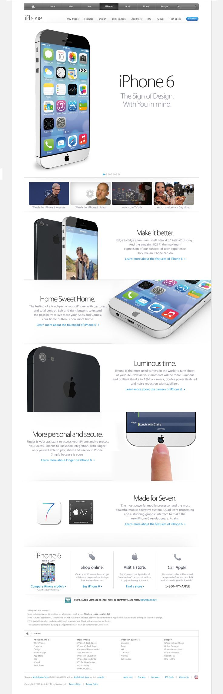 Rumor: iPhone 6 concept with iOS 7 | inrumor.com | inrumor
