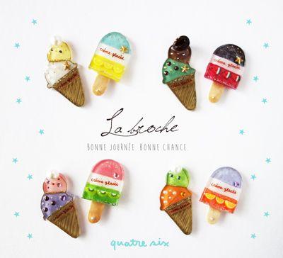 アイスクリームLOVERのミニブローチセット★