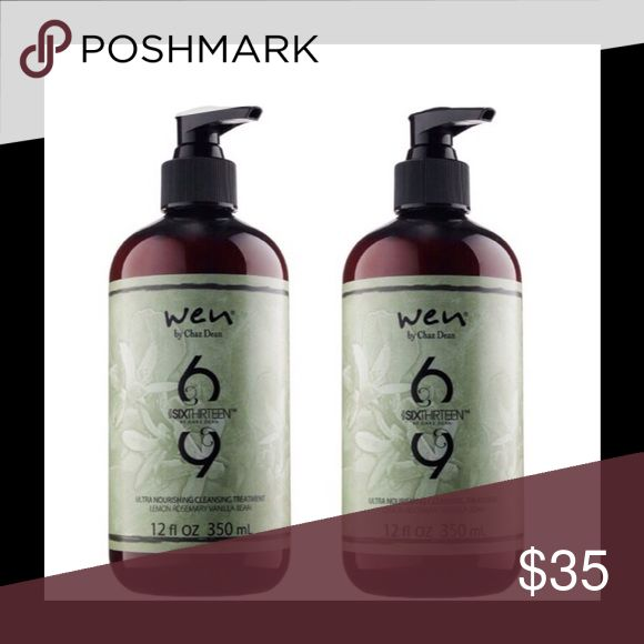 Wen Ultra Nourishing Cleansing Treatment, 2-Pack What it is: A luxurious hair care treatment designed to cleanse hair and scalp with no harsh chemicals or harsh sulfates.   It contains soy proteins to help strengthen and improve manageability, and a complex of 11 amino acids plus 25 oils and extracts to nourish. It can be used to cleanse hair and scalp, as a deep treatment mask, or a leave-in conditioner. ⚡️2 Full Sized 12oz bottles, New in Packaging ⚡️ Wen Other