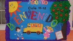 periódico mural del mes de Agosto Mural de Bienvenida (1)
