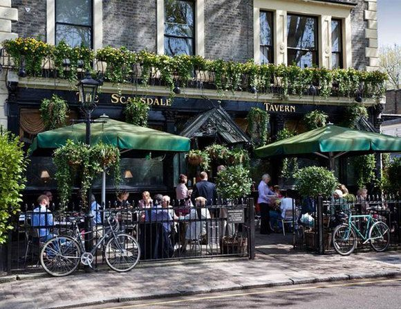 Five of the Best London Pub Gardens | ELLE UK The Scarsdale Pub, how I miss living around the corner!