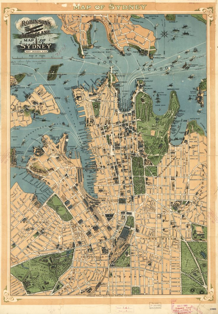 Items similar to 1922 MAP Sydney Australia