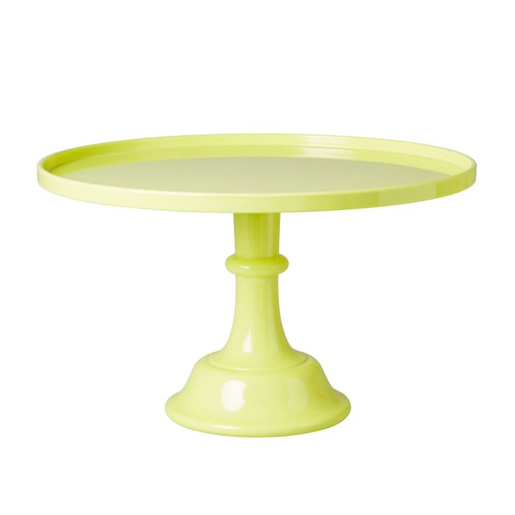 RICE Cake Stand with Stem, Neon Yellow