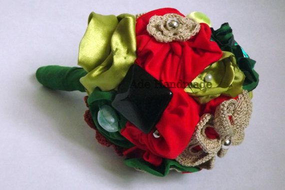 Wedding bouquet by AdeHandmade on Etsy