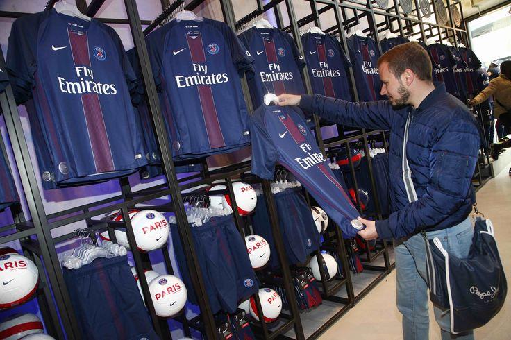 Paris Saint-Germain Megastore during the launch of the new jersey 16-17