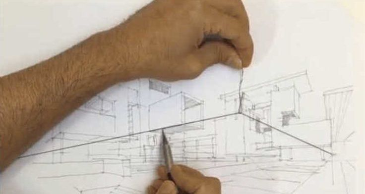 This Simple Trick Can Solve All Your Two-Point Perspective Problems , Perspective drawings are an effective way for architects to present their ideas to clients and fellow architects. The most commonly used type of perspective drawing,