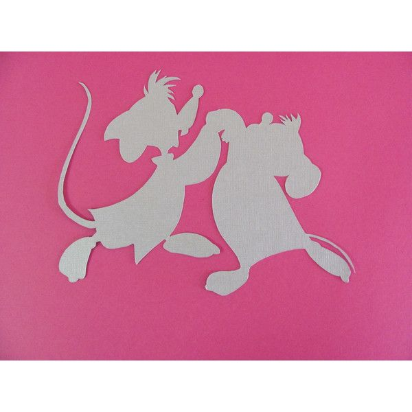 Set of Three (3) Cinderella Silhouettes for a Nursery or Girl's Room ($29) ❤ liked on Polyvore