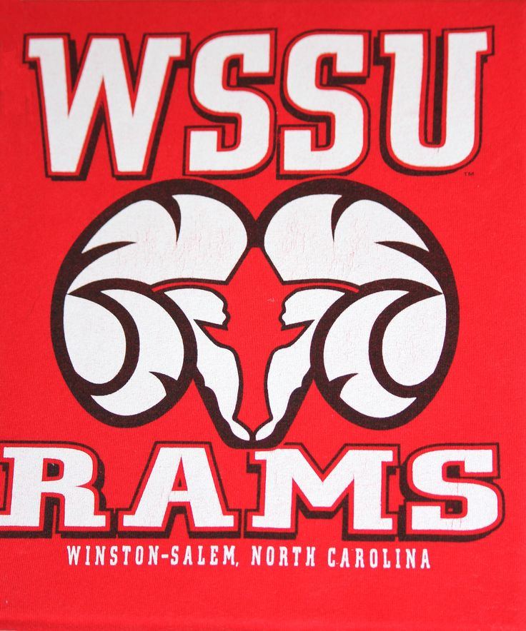 WSSU (Winston Salem State University) Rams  t-shirt on canvas  $20