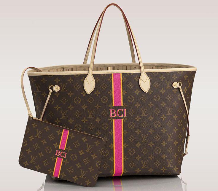 Louis Vuitton Mon Monogram Neverfull Tote GM 15.7″ W x 13″ H x 7.9″ D Price: $1,760 via Louis Vuitton