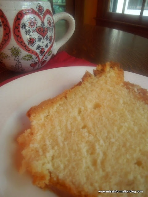 Butter Pound Cake, so good I even eat it for breakfast!