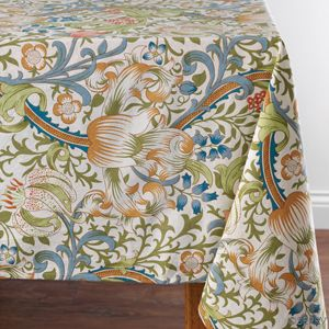 Classic Victorian Tablecloth Ideal for your Easter table and other spring celebrations, this elegant floral cotton tablecloth is screen-printed in hues of blue, green, gold and peachy pink http://serrv.org #fairtrade #hadnmade #spring2014 #new #artisanmade #floral #garden #tablecloth #victorian #spring #celebrate #elegant #screenprint
