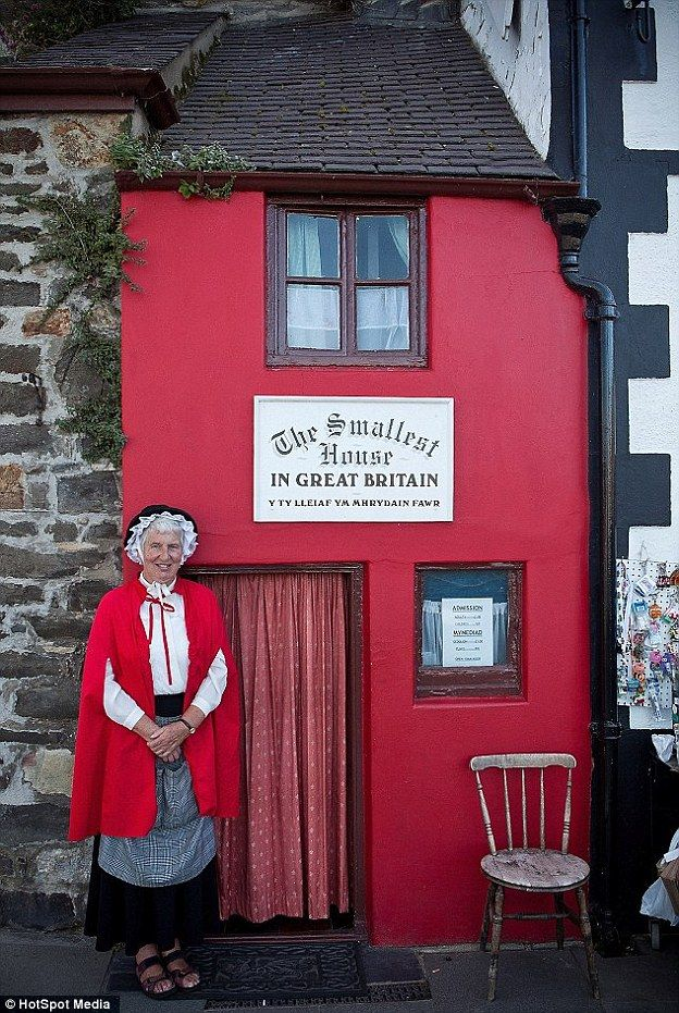 Guinness World Records currently recognise a house in Conwy, north Wales, as Britain's smallest house.The house, aptly called The Smallest House in Great Britain, is just 10ft tall and has two rooms. It can only fit four people at a time and it around 6ft wide, but thousands of tourists still pay the £1 (50p for children) fee to enter the cramped, red house every year. and explained why the pint-sized home is a mecca for mini-home spotters the world over.
