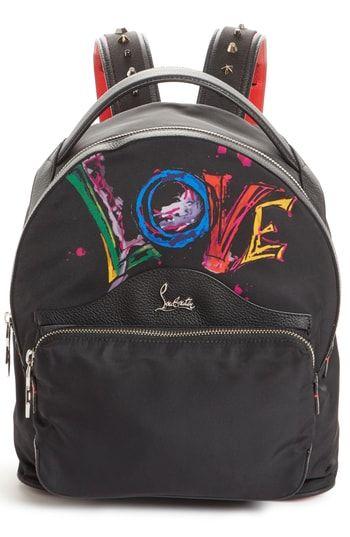89d13a5984 Christian Louboutin Small Backloubi Love Nylon Backpack