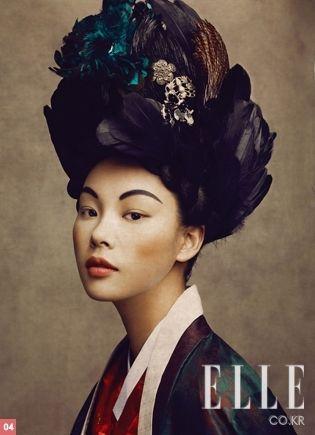 Traditional korean hairdo(wig) 'Ga-chae'