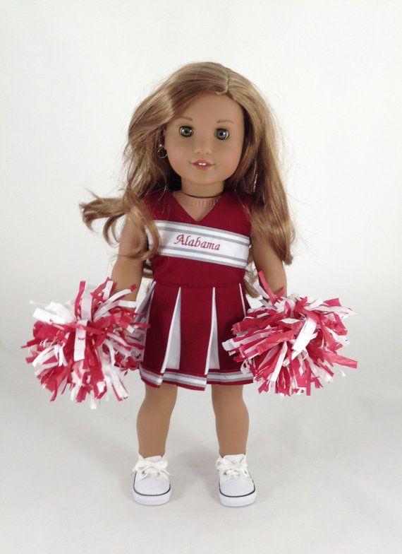 18 t Go Team  Alabama Cheerleader Kleid von MjsDollBoutique18T