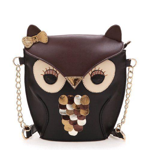 Accessorize Black Crossbody Owl Shoulder Bag - $10.48