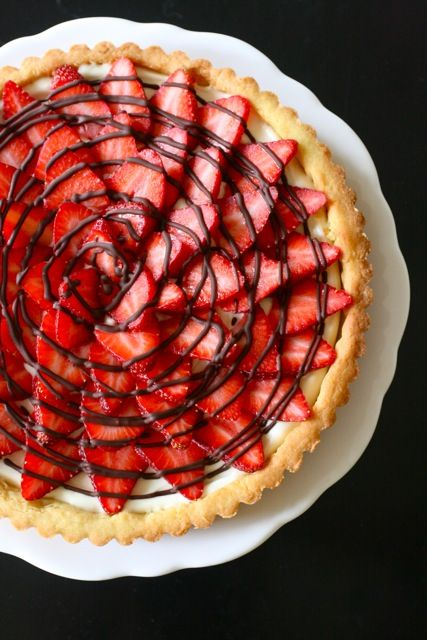 Strawberry Cream Cheese Tart - strawberries, cream cheese and chocolate...nothing like it!!!