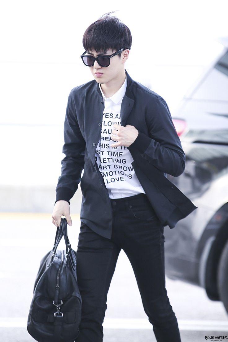 150506- EXO Suho (Kim Joonmyun); Incheon Airport to Hongkong Airport #exok #fashion #style #men
