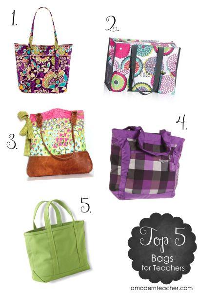 Top 5 Bags for Teachers  from www.amodernteacher.com