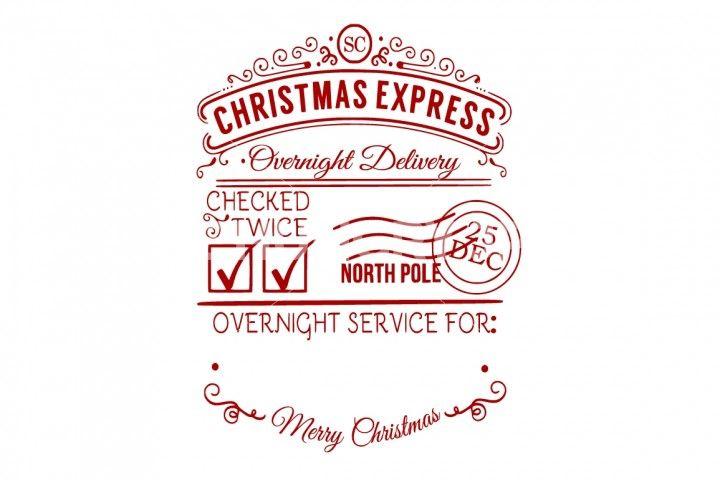 Christmas Vectors for Santa Sacks Letter from Santa Santas Address Santa Label Stamp North Pole Address SVG File Cut Files Silhouette Cricut