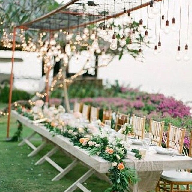 #ShareIG Loving the overhead #lightbulb #canopy! Regram from @thebalibride and @cherangeweddings. #weddinginspiration #weddingstyle