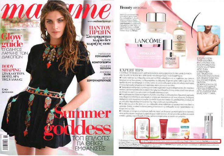 Madamme Figaro Aug. 2014  YOUTH LAB. Oxygen Moisture Cream