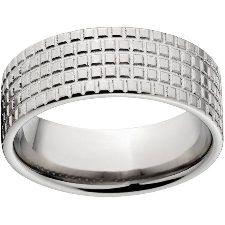 Custom Men's Tire Tread 8mm Stainless Steel Wedding Band with Comfort Fit Design, Size: 12.5